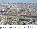 多摩川,大田區,東京和東海道新幹線 37643412