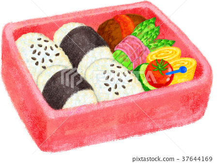 bento, box lunch, cooked 37644169