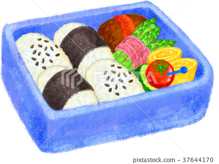 bento, box lunch, cooked 37644170