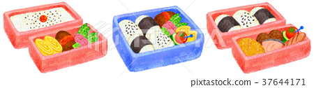 bento, box lunch, cooked 37644171