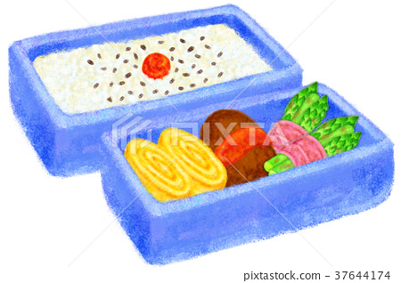 bento, box lunch, cooked 37644174
