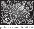 Foods doodles hand drawn sketchy vector  objects 37644554