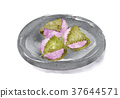 sakura, mochi, watercolour 37644571