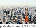 도쿄 타워와 도시 풍경 37645724