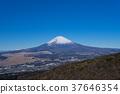 富士山 藍天 積雪 37646354