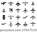 plane, icon, vector 37647519