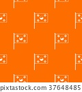 South Korea flag pattern seamless 37648485