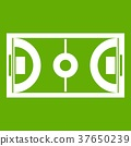Futsal or indoor soccer field icon green 37650239