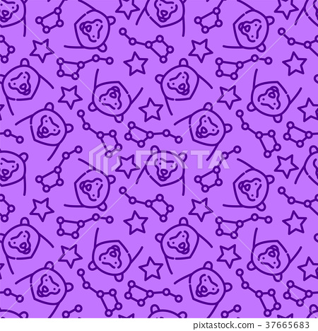 Vector seamless pattern with constellations 37665683