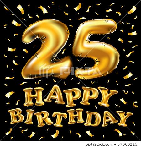 Happy Birthday 25 Canstock