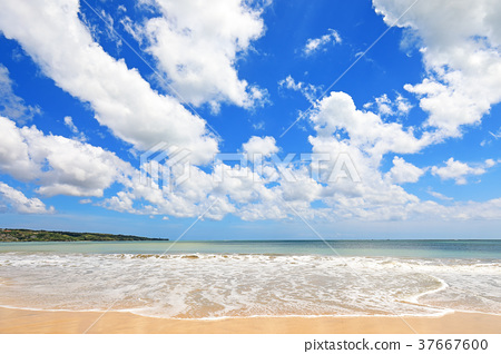 Jimbaran Beach In Bali Stock Photo 37667600 Pixta