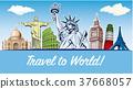 travel destinations-famous placesNYC, London 37668057