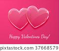 heart, vector, glass 37668579