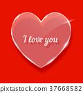 heart, glass, illustration 37668582