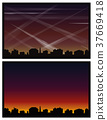Contrails Air Pollution City Skyline 37669418