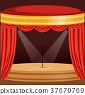 theater, curtain, red 37670769