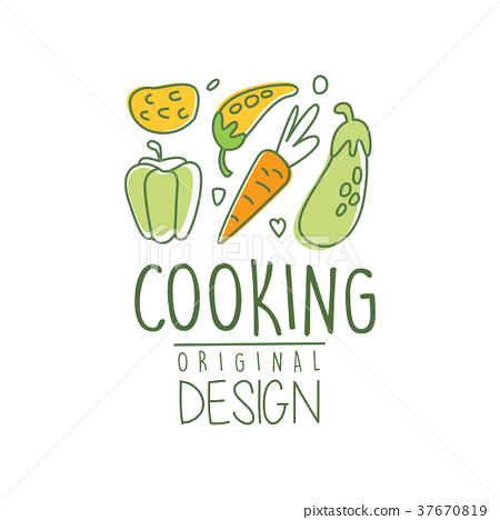 Hand drawn cooking logo design with fresh 37670819