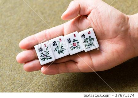 梅蘭竹菊 花中四君子 Four Gentlemen among Flowers 麻將 麻雀 植物 37671374