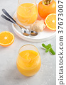 smoothie, persimmon, orange 37673007