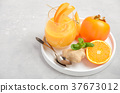 smoothie, persimmon, orange 37673012