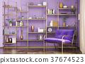 3d, interior, living 37674523