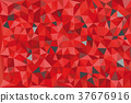 Red and gray triangular pattern - triangles mosaic 37676916