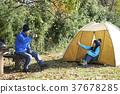露營者 中老年人 夫婦 37678285