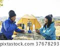 露營者 中老年人 夫婦 37678293