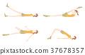 瑜伽妇女的例证 37678357