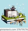 graduation concept 3d isometric infographic 37679576