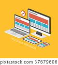 coding, development, flat 37679606