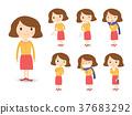 various sickness symptoms in cartoon style 37683292