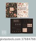 graceful floral half-fold brochure template design 37684766