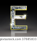3d shiny diamond letter E 37685833