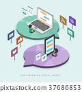 flat 3d isometric social media concept illustration 37686853