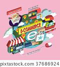 flat 3d isometric e-commerce concept illustration 37686924