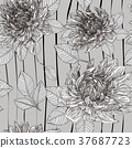 graceful floral seamless pattern 37687723
