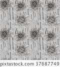 graceful floral seamless pattern 37687749