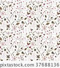 seamless pattern with autumn elements 37688136