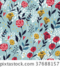 elegant cartoon seamless pattern 37688157