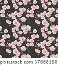 cherry blossom seamless pattern 37688190
