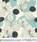 elegant retro seamless pattern background 37688245
