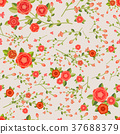 graceful seamless floral pattern 37688379