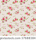 graceful seamless floral pattern 37688384