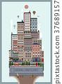 modern city landscape in flat design 37689157