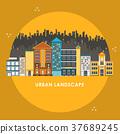 flat design style for urban landscape 37689245
