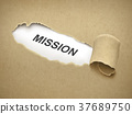 the word mission behind torn paper 37689750