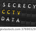 secrecy CCTV data words on airport board 37690329