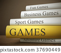 book title of games isolated on a wooden table 37690449
