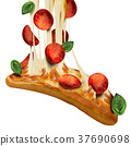 Savoury pepperoni pizza 37690698
